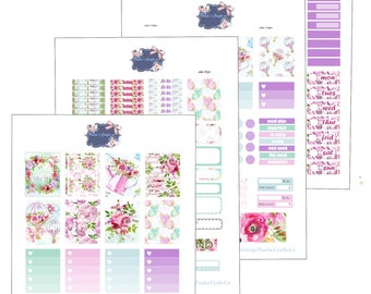 Floral Summer Printable Kit/ Weekly kit/ Erin Condren LP