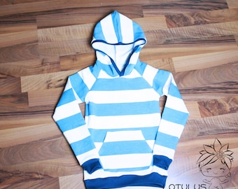 Hooded sweater Striped