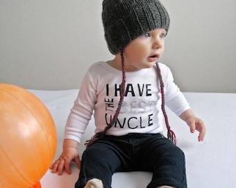 Kid's winter hat with pom pom, Baby Girl Hat, Knit Newborn Beanie, Baby Hat, Gray Baby Girl Hat, Toddler winter hat with pom pom