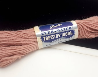 Vintage Bucilla Ever-Match Tapestry Yarn, 100% Virgin Wool, 40 yds per Skein