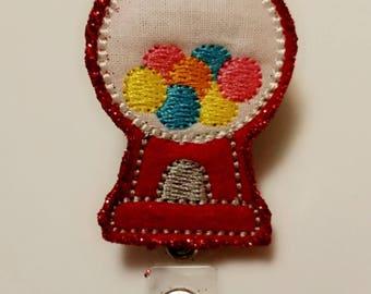Bubblegum Machine Badge Reel