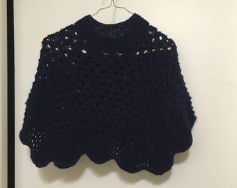 Hand Knit Child's Poncho