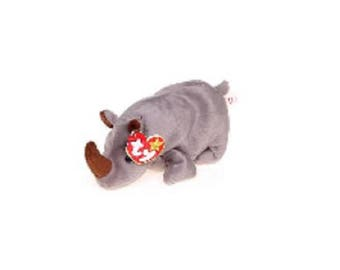 Ty Beanie Babies Spike the Rhino 1996 Generation 5 version 6