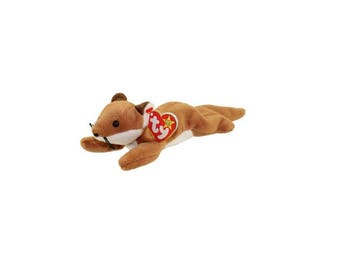 Ty Beanie Babies Sly the Fox 1996 Generation 5 Version 6