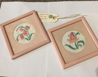 Cross stitch framed pictures