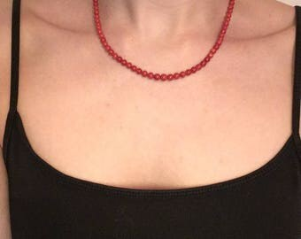 Genuine Vintage Coral Necklace with gold clasp