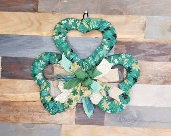 St Patrick's Day Clover Wreath