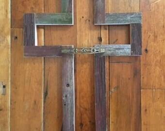 Reclaimed Wisconsin Barn Wood Cross