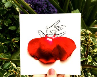 Easter card,rabbit card, easter rabbit card, easter bunny card, hare card, bunny card, birthday rabbit card, drawing of rabbit