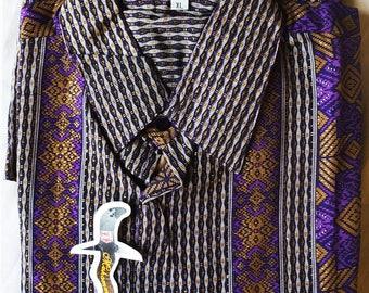 Silk cotton Indonesian batik shirt