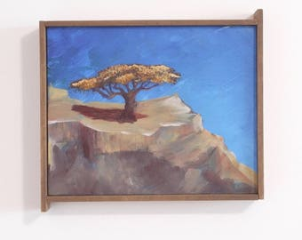 Original landscape, acacia tree, rock