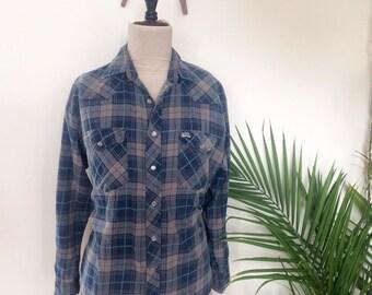 Kodiak Plaid Shirt, Grunge  Flannel, 80s 90s (size)