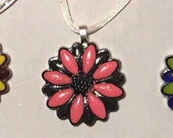 Resin Flower Pendant