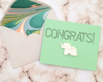 Congratulations Origami Greeting Card