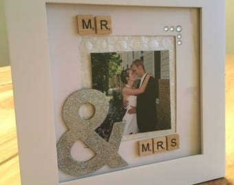 Mr & Mrs Frame, wedding gift, anniversary gift, gift for her, gift for couple