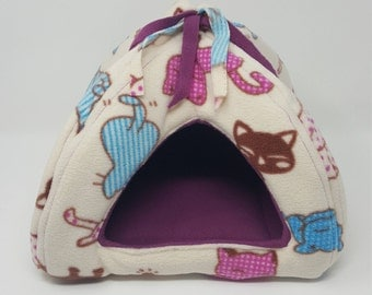 Large or Medium Tent House for Small Pets \ Guinea Pig \ Custom Made \ Double Fleece \ Cotton and Fleece \ Large