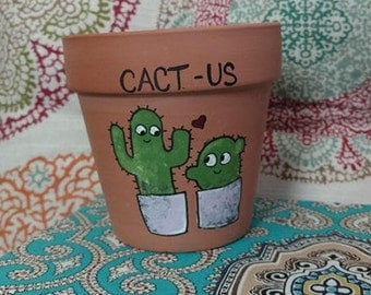 Cact-us Valentines Day Plant Pot