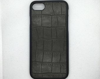 Camo Croc iPhone 8 / iPhone 7 handmade genuine leather case