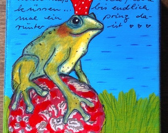 """Picture """"Frog King"""""""