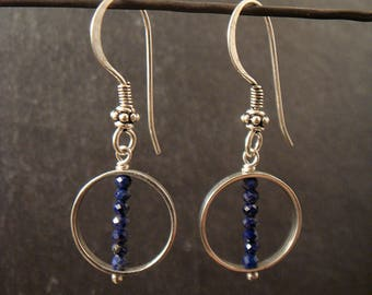 "Earrings Silver 925 thousandths ""rimmed stones"""