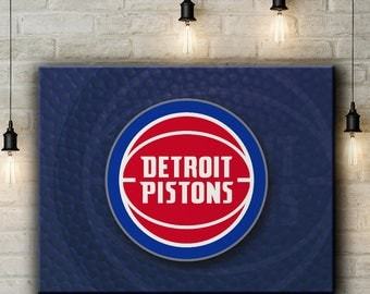Detroit Pistons Canvas Print Wall Art