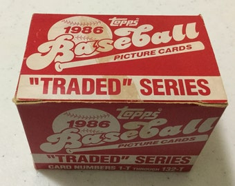 1986 Topps Baseball Traded Series Factory Set (132 Cards)