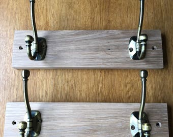 Solid Oak Handmade Coat Hook Hanger