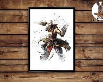 Diablo 3 Monk Print  wall art hme decor poster