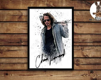 Chris Cornell Print  wall art home decor poster