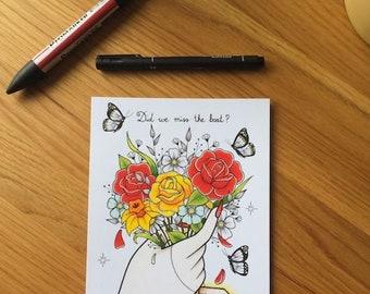A5 Fatherson Bouquet Print
