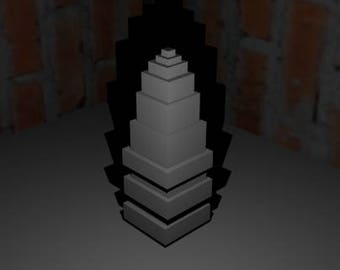 Model of a abstract art tower  - Modelo de una torre (arte abstracto)Papercraft