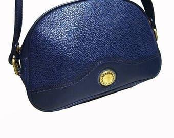 Fiber Street VINTAGE!  beautiful vintage CARVEN blue leather bag