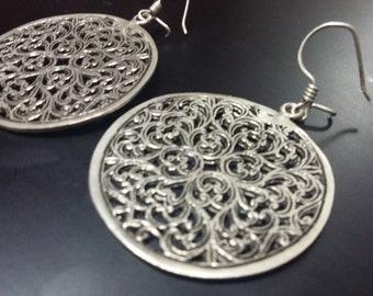 Pure Silver earrings jewelry Berber silver jewelry