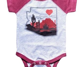 The Heart of the Desert : Infant Baseball Onesie
