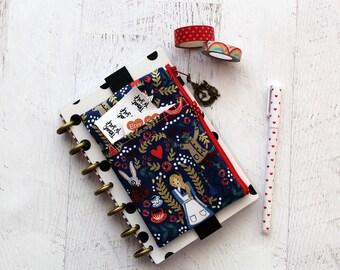 Alice in Wonderland planner bag - franken planner accessories - planner zipper pouch - pencil case - BUJO accessory - mini planner bag
