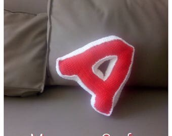 Crochet Letter Pillow