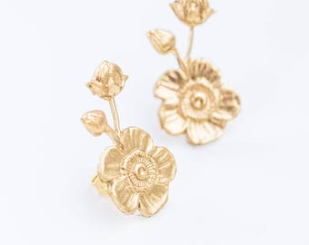 Stud Earrings  Flower Earrings  Flower Stud Earrings  Wedding Earrings  Small Stud Earrings  Earrings for Mom  Earrings for Wedding