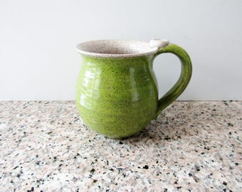 Chartreuse Green Mug - Lemongrass green - 14 oz  Coffee Cup - Ready to Ship Ceramic Cup