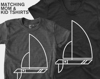 Sailboat - Matching Shirts (Women & Kid)
