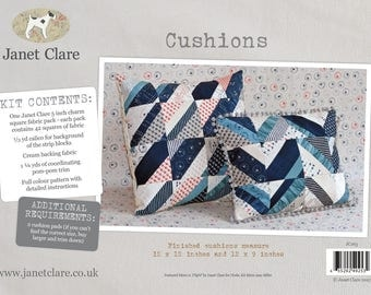 Cushions - Fabric and Pattern Kit - Create two beautifully coordinated cushions with Janet Clare's limited edition Moda fabric