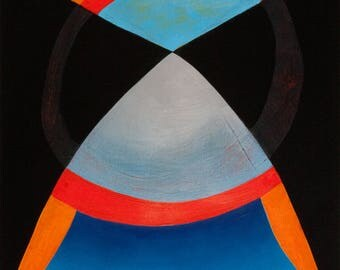 Figurative Inspired Minimal Abstract Painting X2
