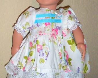 Double-skirted White Dress---Girl doll dress--doll clothes