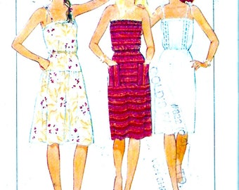 80s summer dress pullover style frock Style 3668 vintage sewing pattern Size 10 to 16 UNCUT