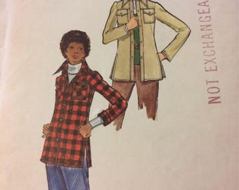Vintage 1970's Butterick 6774  Misses' Jacket Sewing Pattern  Size 10, Bust 32 inches Complete