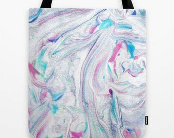 marble pattern fabric tote bag-market bag-abstract pattern-school tote carry-all-modern design fabric tote-gift for her