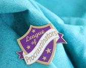 Purple épingle broche émail dur espiègle, ensemble broche en émail, remettre à plus tard, broche émail rusé, broche émail espiègle, épinglette