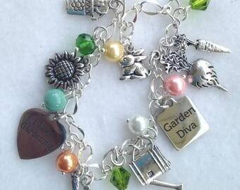 Gardening Charm Bracelet   BC 26