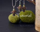 "Tutorial for ""Fairy Lanterns"" beadwoven jewelry set pendant and earrings"