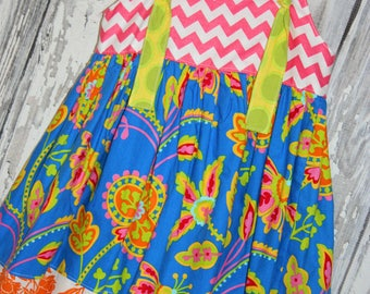 Going out of business SALE, girls knot dress ,size 4 girls dress, Ready to ship
