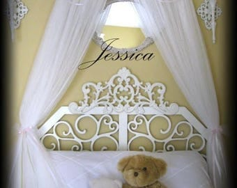 Crib Canopy Bed Cornice valance Teester Pelmet Tent Roses Tiara Crown FrEe Shabby chic PRINCESS Jessica Girls Bedding So Zoey Boutique SALE